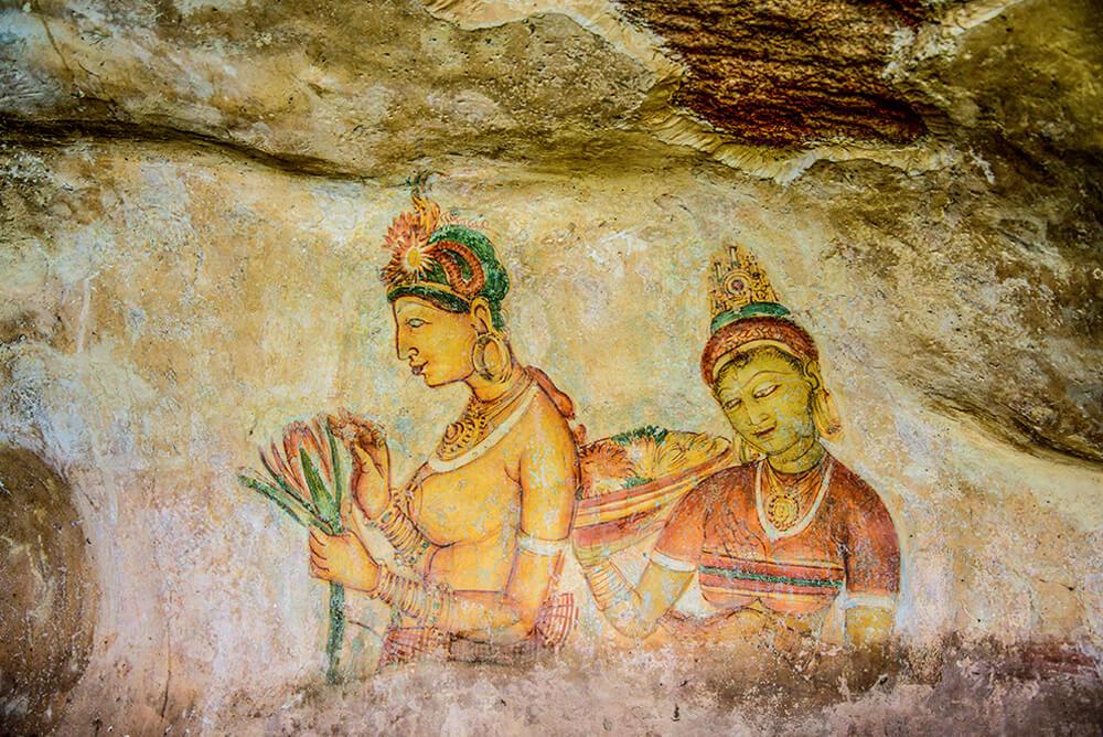 Sigiriya Frescoes in Sri Lanka