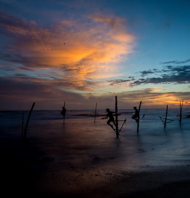 Stilt Fishing in Mirissa