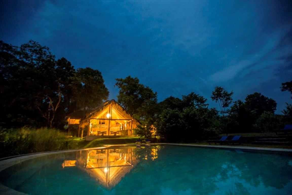 Night view Gal Oya Lodge