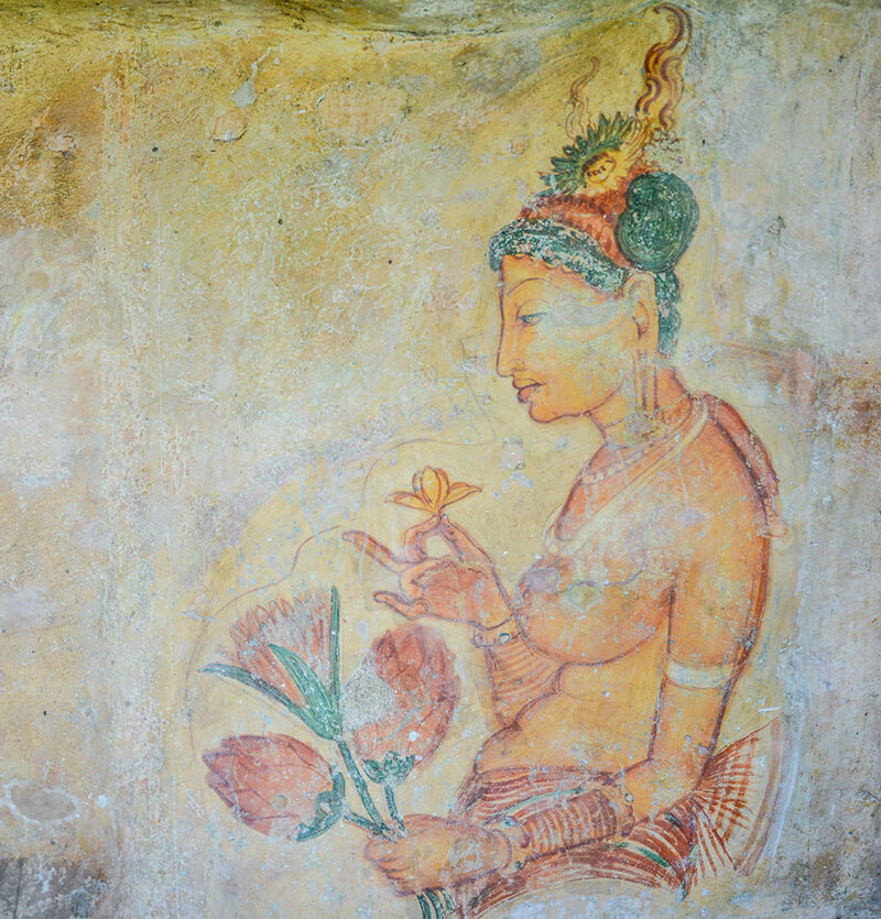 Sigiriya Frescoes in Sri Lanka