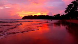 Sunsets at Mirissa Beach