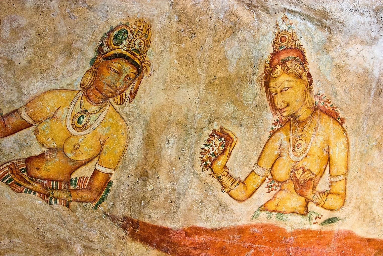 Sigiriya Frescos in Sri Lanka