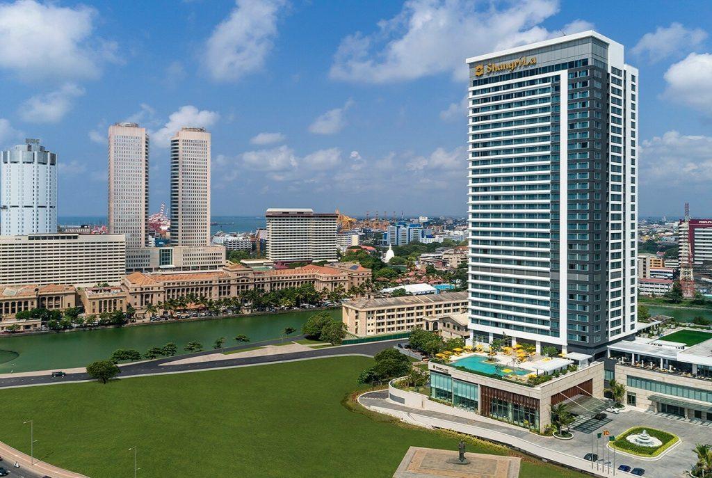 Shangri La Hotel Facade Side View