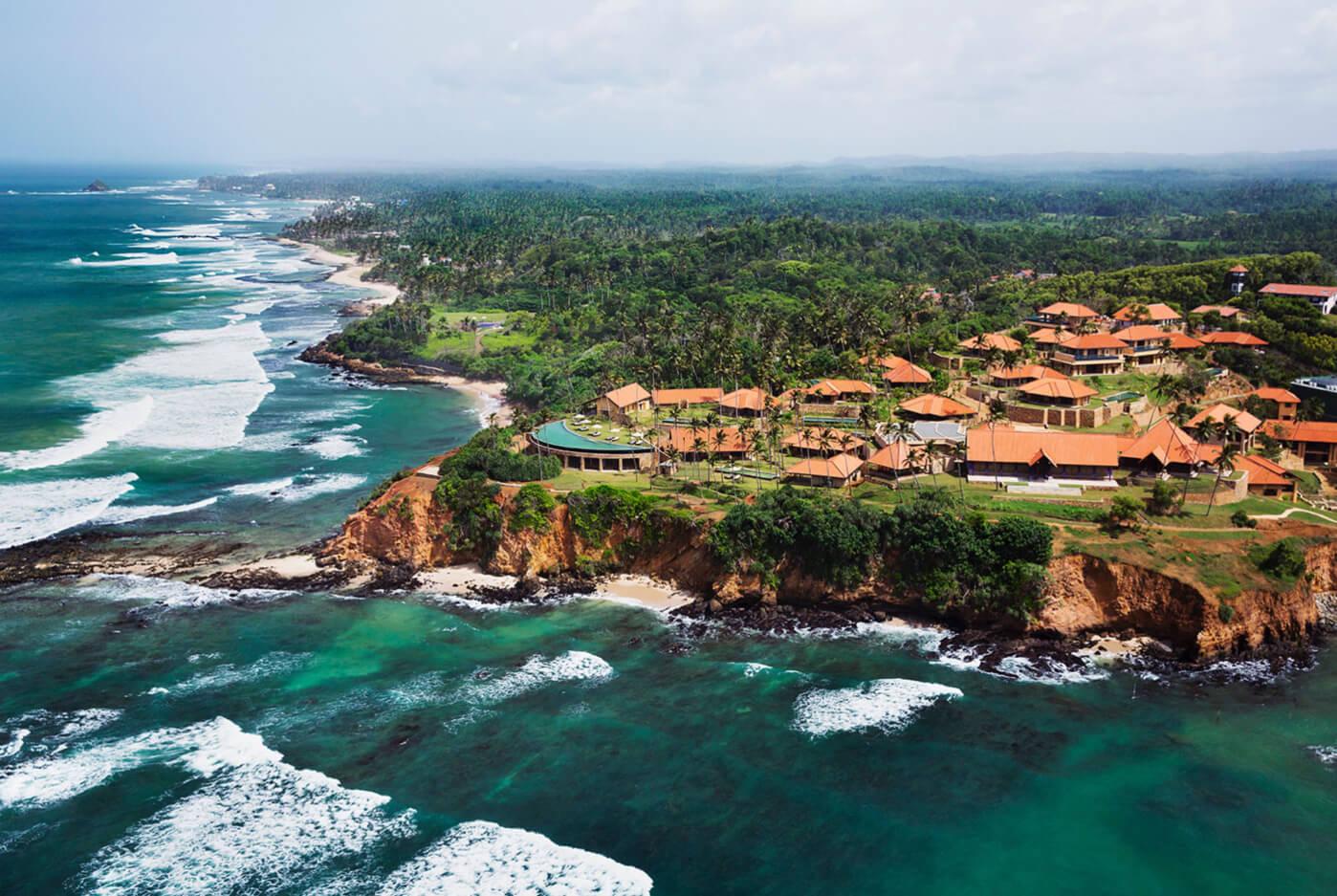 Aerial View Cape Weligama in Sri Lanka
